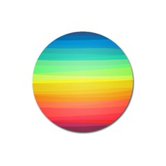 Sweet Colored Stripes Background Magnet 3  (Round)
