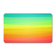 Sweet Colored Stripes Background Magnet (Rectangular)