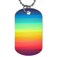 Sweet Colored Stripes Background Dog Tag (One Side)