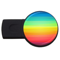 Sweet Colored Stripes Background USB Flash Drive Round (1 GB)
