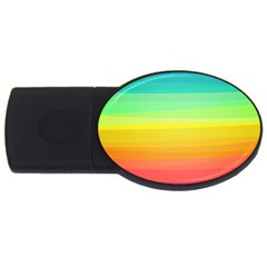 Sweet Colored Stripes Background USB Flash Drive Oval (2 GB)