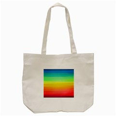 Sweet Colored Stripes Background Tote Bag (Cream)