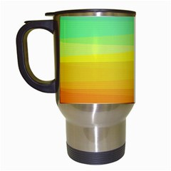 Sweet Colored Stripes Background Travel Mugs (White)