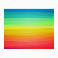 Sweet Colored Stripes Background Small Glasses Cloth