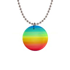 Sweet Colored Stripes Background Button Necklaces