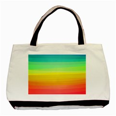 Sweet Colored Stripes Background Basic Tote Bag