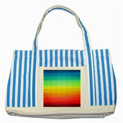 Sweet Colored Stripes Background Striped Blue Tote Bag