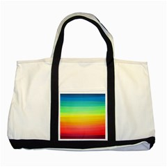 Sweet Colored Stripes Background Two Tone Tote Bag