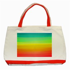 Sweet Colored Stripes Background Classic Tote Bag (Red)