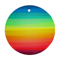 Sweet Colored Stripes Background Round Ornament (Two Sides)