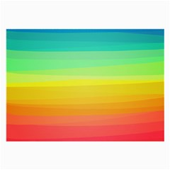 Sweet Colored Stripes Background Large Glasses Cloth (2-Side)