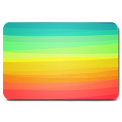 Sweet Colored Stripes Background Large Doormat