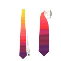 Sweet Colored Stripes Background Neckties (Two Side)