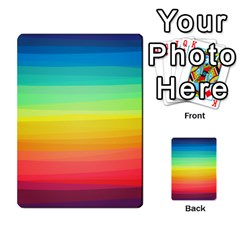 Sweet Colored Stripes Background Multi-purpose Cards (Rectangle)
