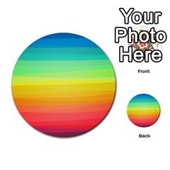 Sweet Colored Stripes Background Multi-purpose Cards (Round)