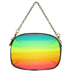 Sweet Colored Stripes Background Chain Purses (One Side)