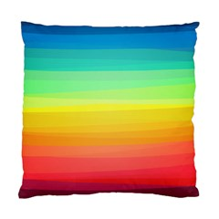 Sweet Colored Stripes Background Standard Cushion Case (Two Sides)