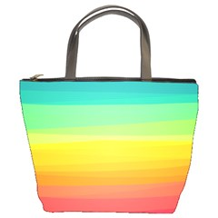 Sweet Colored Stripes Background Bucket Bags