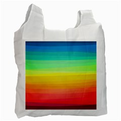Sweet Colored Stripes Background Recycle Bag (Two Side)
