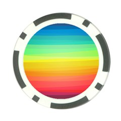 Sweet Colored Stripes Background Poker Chip Card Guards (10 Pack)