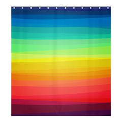 Sweet Colored Stripes Background Shower Curtain 66  x 72  (Large)