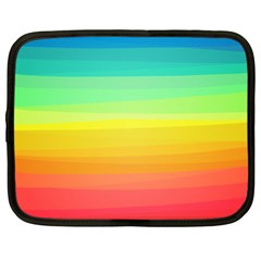 Sweet Colored Stripes Background Netbook Case (XL)
