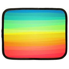Sweet Colored Stripes Background Netbook Case (XXL)
