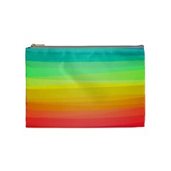 Sweet Colored Stripes Background Cosmetic Bag (Medium)