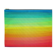 Sweet Colored Stripes Background Cosmetic Bag (XL)