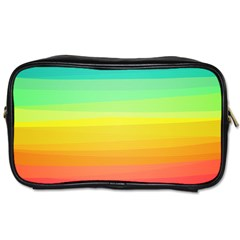 Sweet Colored Stripes Background Toiletries Bags 2-Side
