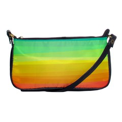 Sweet Colored Stripes Background Shoulder Clutch Bags