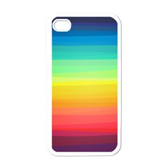Sweet Colored Stripes Background Apple iPhone 4 Case (White)