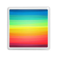 Sweet Colored Stripes Background Memory Card Reader (Square)