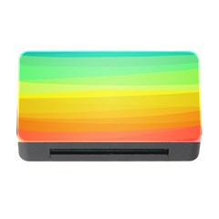 Sweet Colored Stripes Background Memory Card Reader with CF