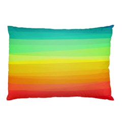 Sweet Colored Stripes Background Pillow Case (Two Sides)
