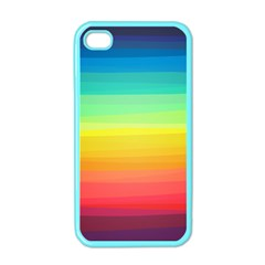 Sweet Colored Stripes Background Apple iPhone 4 Case (Color)