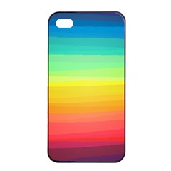 Sweet Colored Stripes Background Apple iPhone 4/4s Seamless Case (Black)