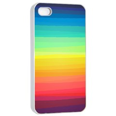Sweet Colored Stripes Background Apple iPhone 4/4s Seamless Case (White)