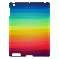 Sweet Colored Stripes Background Apple iPad 3/4 Hardshell Case