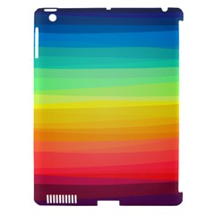 Sweet Colored Stripes Background Apple iPad 3/4 Hardshell Case (Compatible with Smart Cover)
