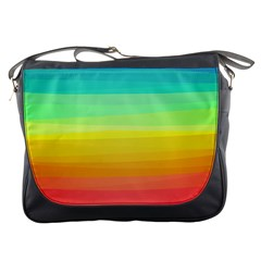 Sweet Colored Stripes Background Messenger Bags