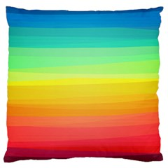Sweet Colored Stripes Background Large Cushion Case (One Side)