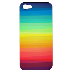 Sweet Colored Stripes Background Apple iPhone 5 Hardshell Case