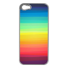 Sweet Colored Stripes Background Apple iPhone 5 Case (Silver)
