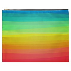 Sweet Colored Stripes Background Cosmetic Bag (XXXL)
