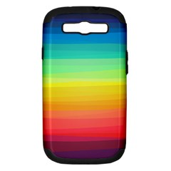 Sweet Colored Stripes Background Samsung Galaxy S III Hardshell Case (PC+Silicone)