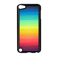 Sweet Colored Stripes Background Apple iPod Touch 5 Case (Black)