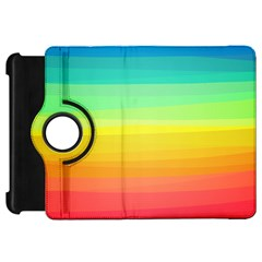 Sweet Colored Stripes Background Kindle Fire HD Flip 360 Case