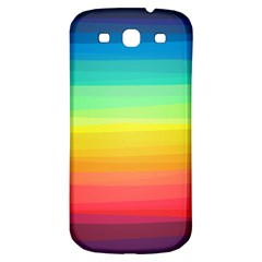 Sweet Colored Stripes Background Samsung Galaxy S3 S III Classic Hardshell Back Case