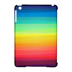 Sweet Colored Stripes Background Apple iPad Mini Hardshell Case (Compatible with Smart Cover)